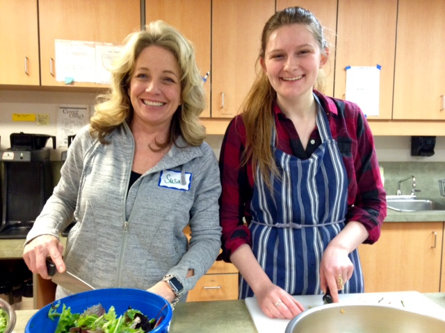 Photo of Shelter meal prep (Susan B. & Lydia)