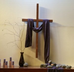 Photo of altar during Lent